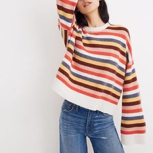 Madewell butterfly sleeve striped sweater